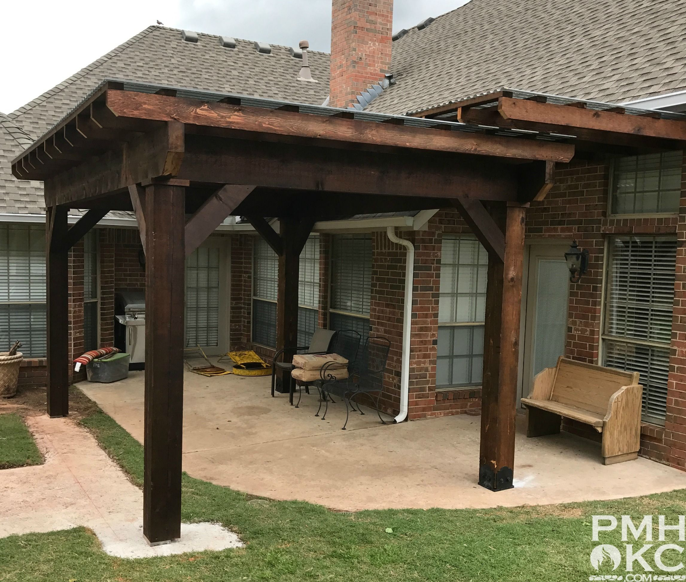 Image Result For Wood Posts On Piers Pergola - Timberhill