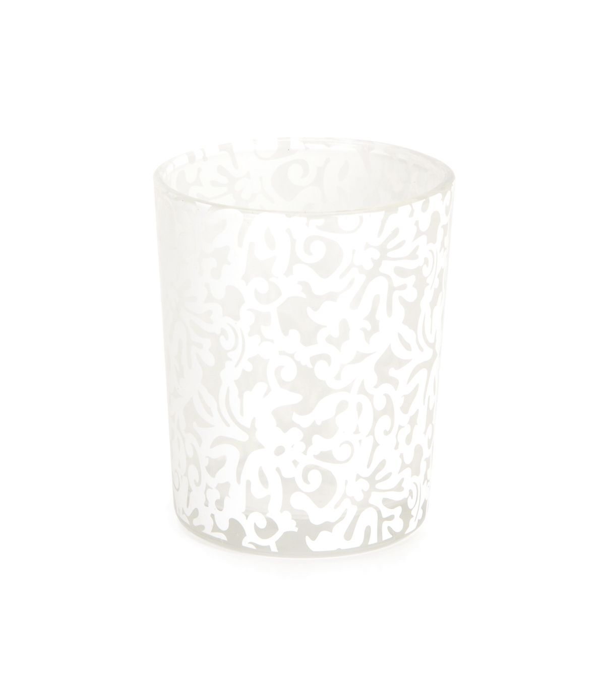 Lace Print Votive White Votive candle holders Reception and Weddings