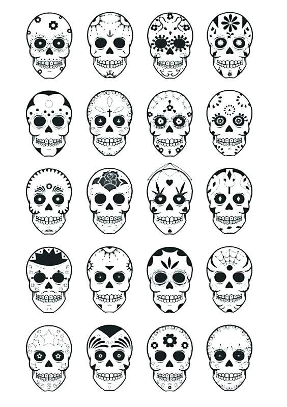 Sugar Skull Template Printable Free Download Pumpkin ...