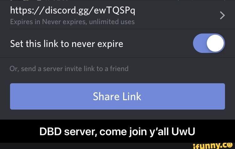 Or Send A Server Inwte Imk To A Friend Dbd Server Come Join Y All Uwu Dbd Server Come Join Y All Uwu Ifunny Memes Ifunny Server