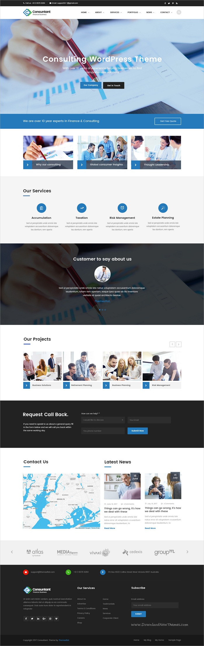 Consulting Finance Accounting Enterprise Psd Template Psd Templates