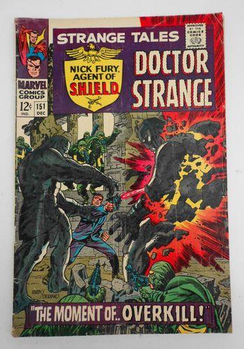 STRANGE TALES No. 151 SILVER Age Comic 1966 MARVEL NICK FURY 1st STERANKO