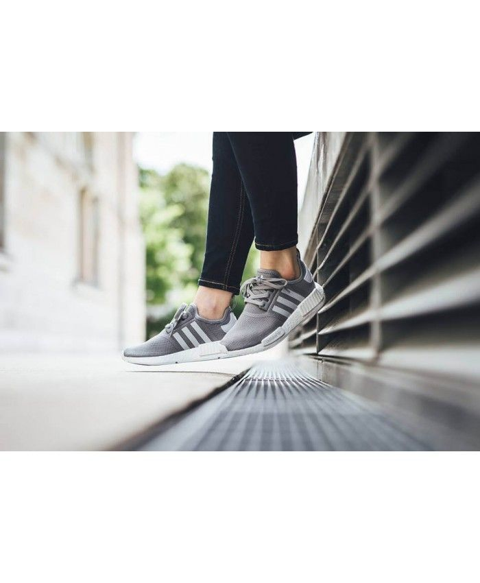 online retailer bb096 0d4ad Adidas NMD R1 Charcoal Grey Snow White Trainers Cheap Sale ...