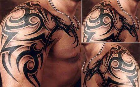 Tatuajes Para Hombres Tribales Omoplato Hombro Tatuaje Estilo De