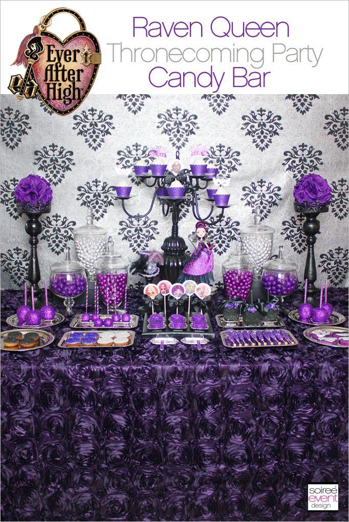 Ever After High Party Raven Queen S Thronecoming Festa Roxa