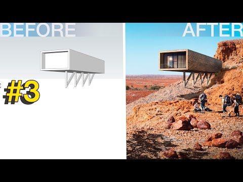 Photoshop Arquitectura Visualización # 3 Minimalista casa del desierto - YouTube