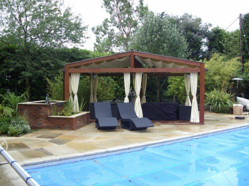 COBERTI Pergotenda 120 para exterior piscina #pergola #pergotenda