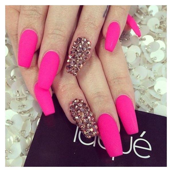 Hot Pink Marble Nails Pink Acrylic Nails Nail Designs Hot Pink