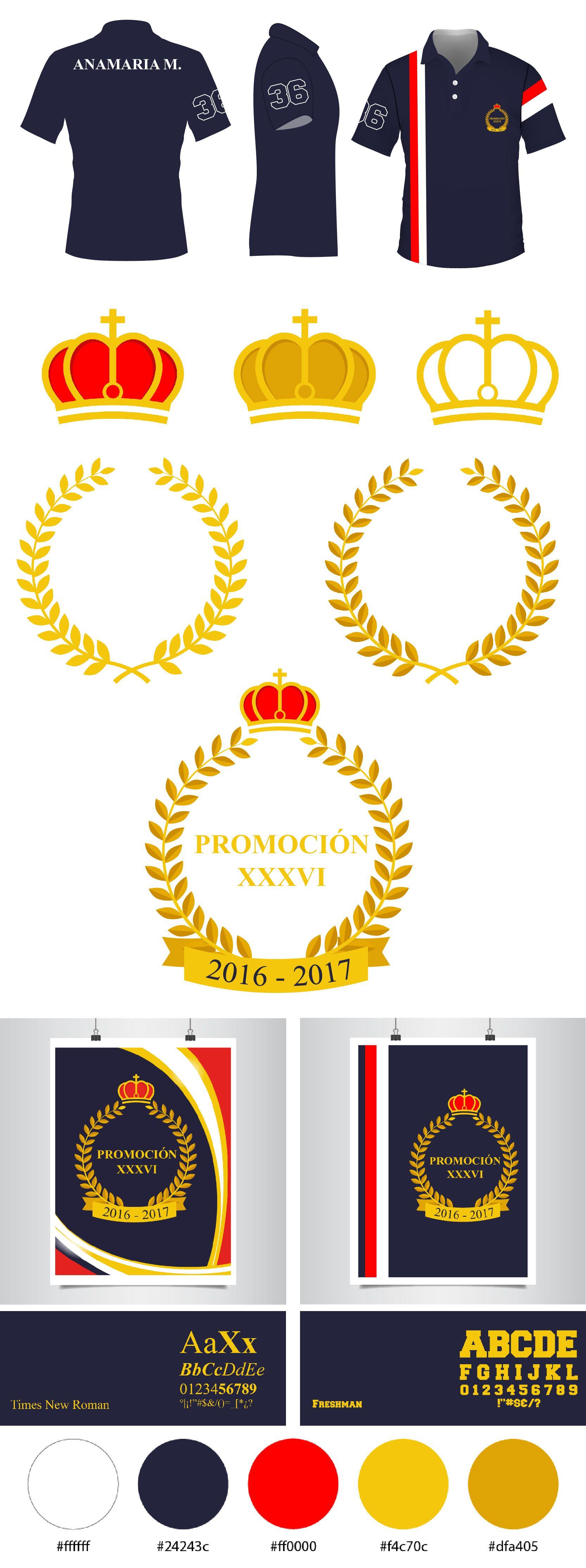 85218b8a6b2a5 Diseño del logo y la camisa de promoción de 5to año. Venezuela ...