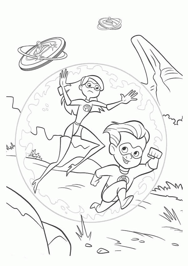 Violet And Dash Running Away From Enemy In The Incredibles Coloring Page Download Prin In 2020 Cartoon Coloring Pages Monster Coloring Pages Pokemon Coloring Pages