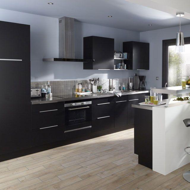 cuisine cooke & lewis ice noire prix promo castorama 569.00 € ttc