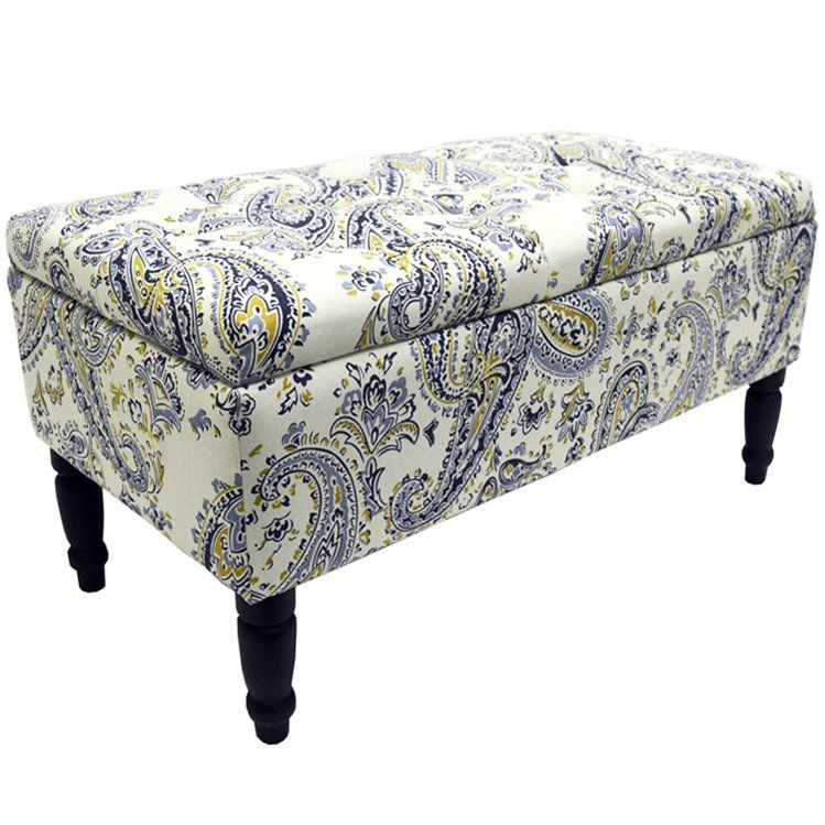 Flowers Storage Ottoman In 2020 Furniture Ottoman Upholstered