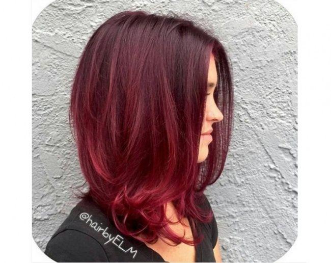 Ombré hair avec cheveux rouges  21 photos absolument hallucinantes ! ,  Tendance coiffure