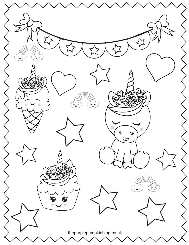 These Printable Unicorn Coloring Pages Are Perfect For Anyone Who Loves These Sweet Magi Unicorn Coloring Pages Free Printable Coloring Printable Coloring Book
