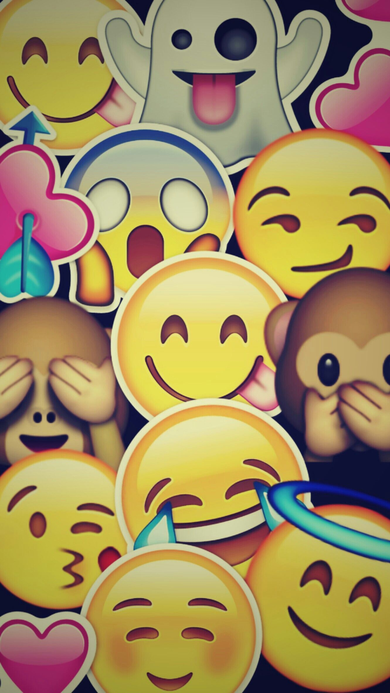 Emoji Background wallpaper iphone background
