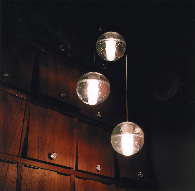 Bocci 143 Triple Glass Pendant Light Clear - Chandeliers -