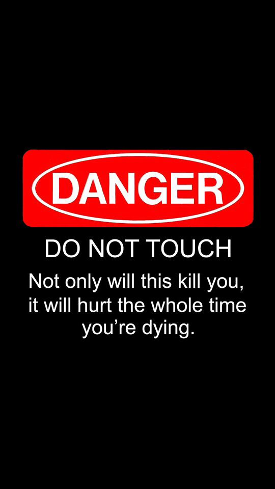 Funny Iphone Wallpaper Funny Quotes Wallpaper Dont Touch