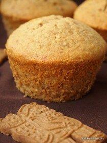 Plätzchen? Nö. Riesengroße Spekulatius-Muffins tun's auch. - Schokohimmel #cheesecakecupcakes