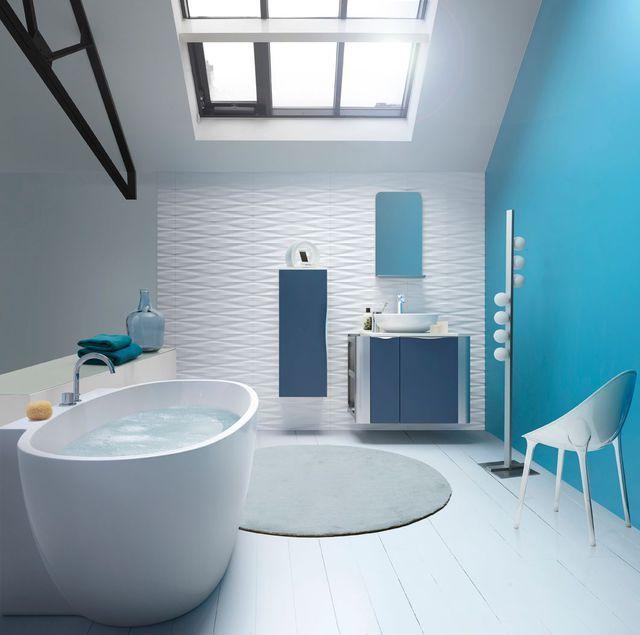Salle De Bain Bleu Turquoise Meuble Salle De Bain Couleur Salle De Bain Amenagement Salle De Bain