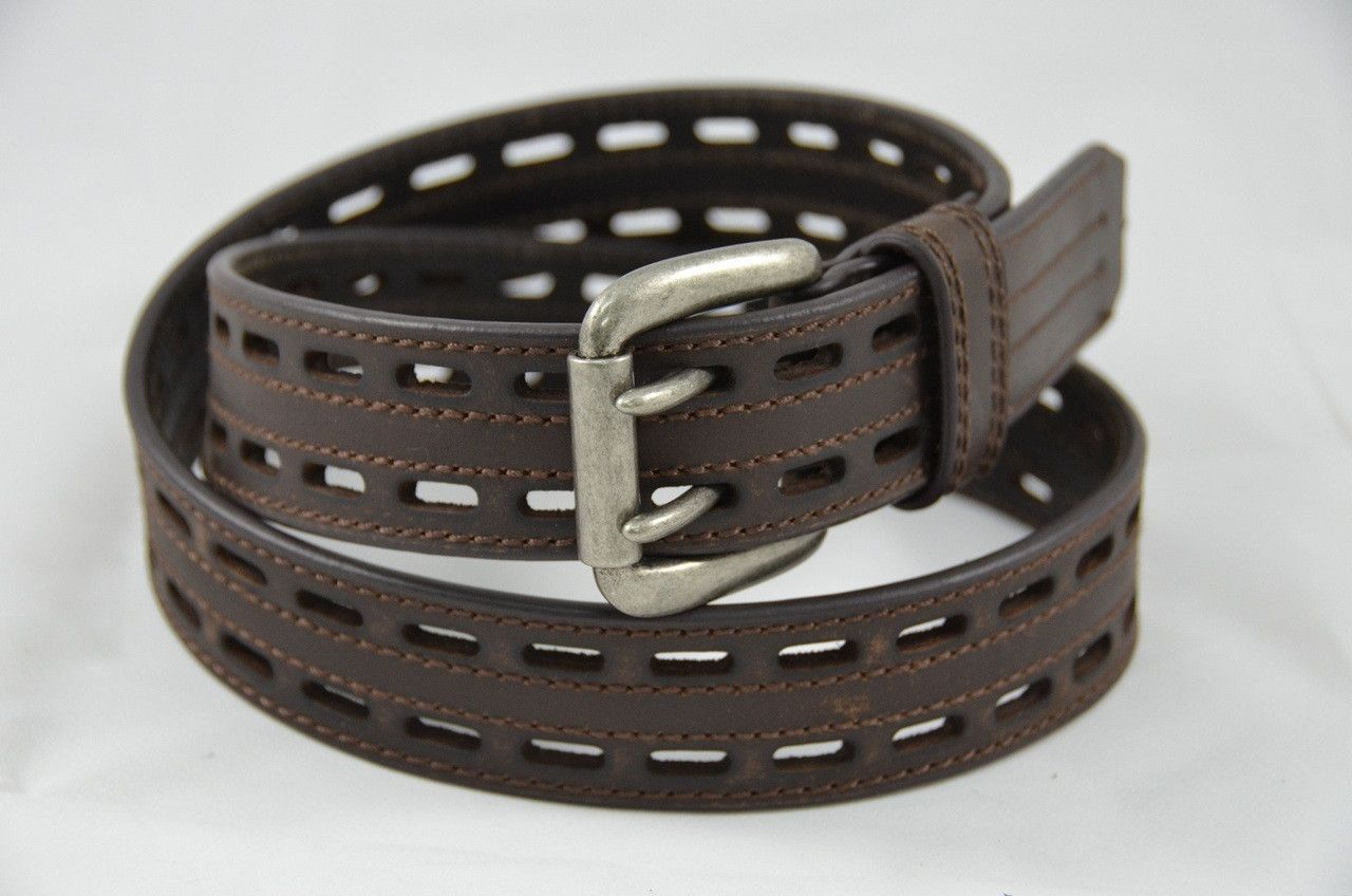 Nocona Western Mens Belt HD Xtreme Double Pin Brown  N2710802