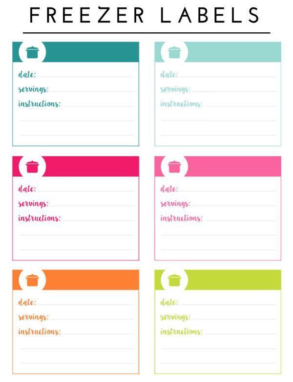image relating to Printable Freezer Labels named Setting up the Freezer (with Printable Freezer Stock