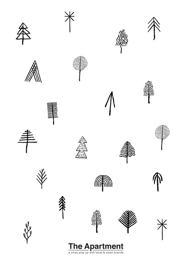 Graphisme de Noël original #Noel #graphique #symbole