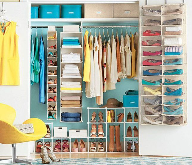 13 Closet Organization Ideas To Get You Ready For Summer Via Brit + Co.  Organized ClosetsStore ShoesContainer ...