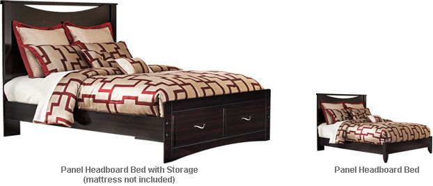 Ashley Zanbury Queen Panel Hbd Bed With Storage The