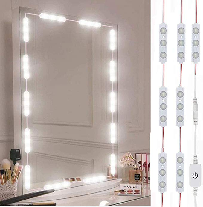Led Vanity Mirror Lights Hollywood Style Vanity Make Up Light 10ft Ultra Bright White Led Dimmable Touch Control In 2020 Vanity Mirror Led Vanity Mirror With Lights