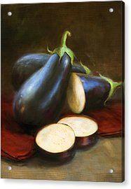 Eggplants Acrylic Print by Robert Papp