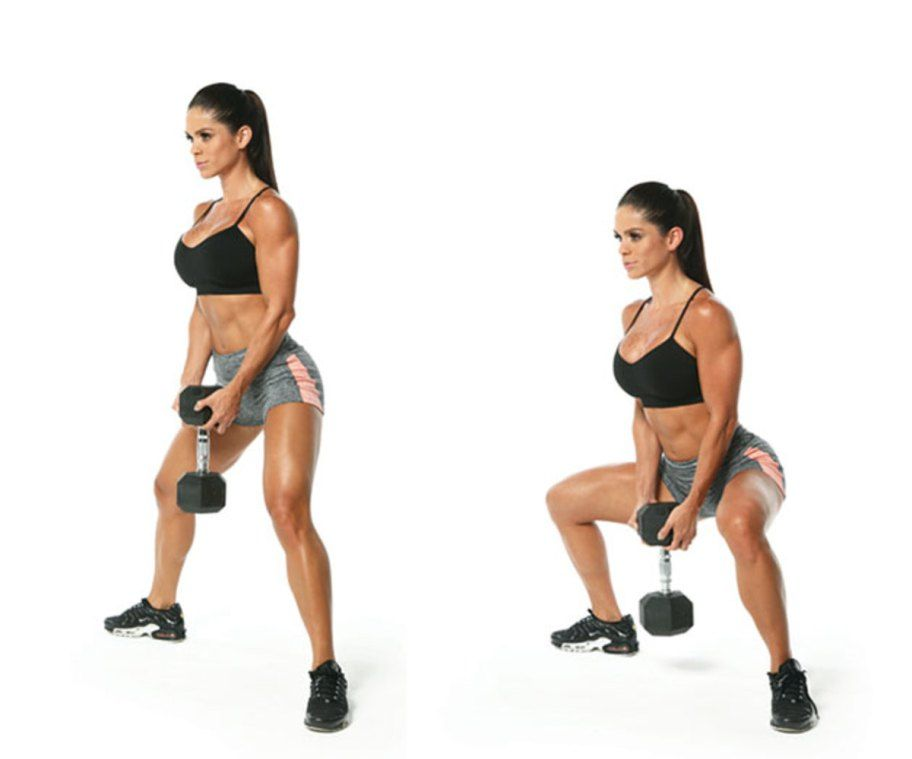 Image Result For Dumbbell Sumo Squat Kp Leg Glute