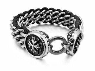 Gelang Pria Kulit Asli Leather XS S M L XL Bracelet