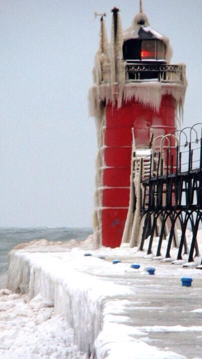 This is the South Haven lighthouse.