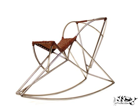 Hesus - steel rocking horse by Jkey studio