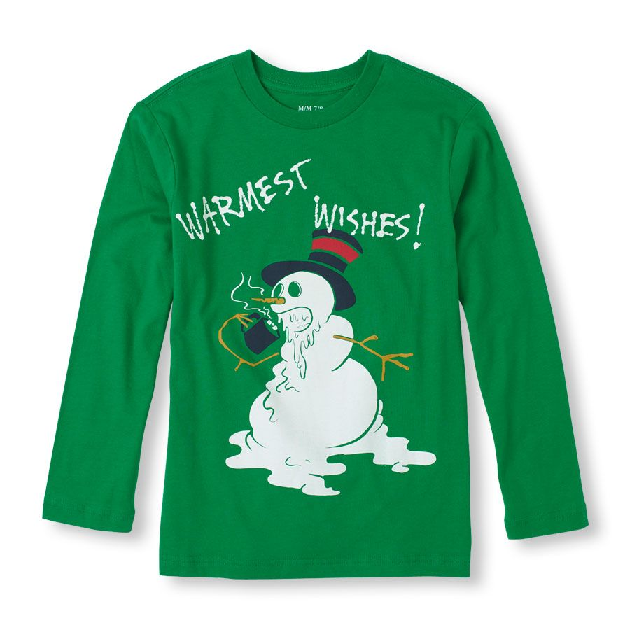 Long Sleeve 'Warmest Wishes!' Graphic Tee