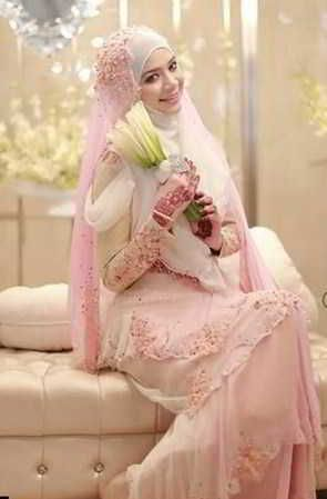 Model Kebaya Pengantin Warna Pink Fanta Dan Putih Wedding Dress