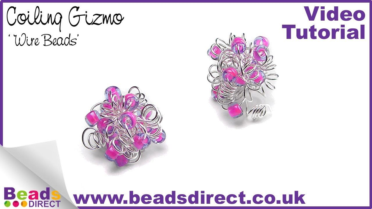 Making Jewellery Beads - How to make a wire bead using a Coiling ...