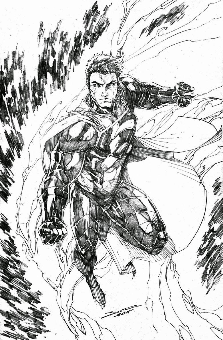 Superman by Brett Booth | Art of Brett Booth | Pinterest | Bocetos ...