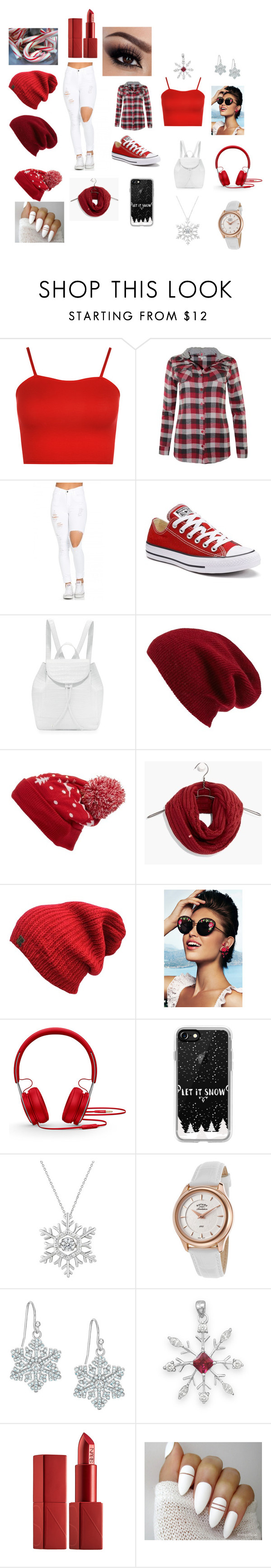 """""""Christmas is Here"""" by jeniah10 on Polyvore featuring WearAll, Converse, Nancy Gonzalez, Halogen, Collection XIIX, Levi's, Beats by Dr. Dre, Casetify, Rotary and BillyTheTree"""