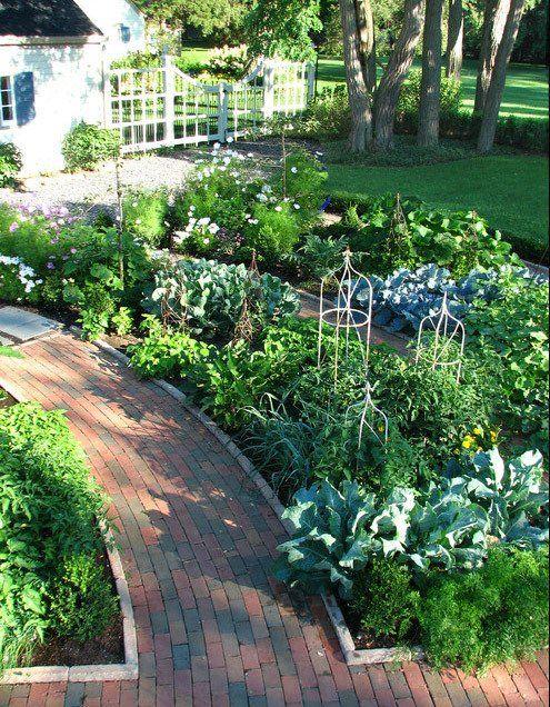 Front Yard Vegetable Gardens Garden Layout Traditional Garden