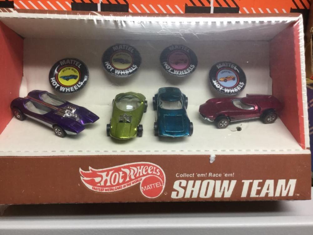 1970 Mattel Hot Wheels Redline Show Team Box Set Factory Sealed