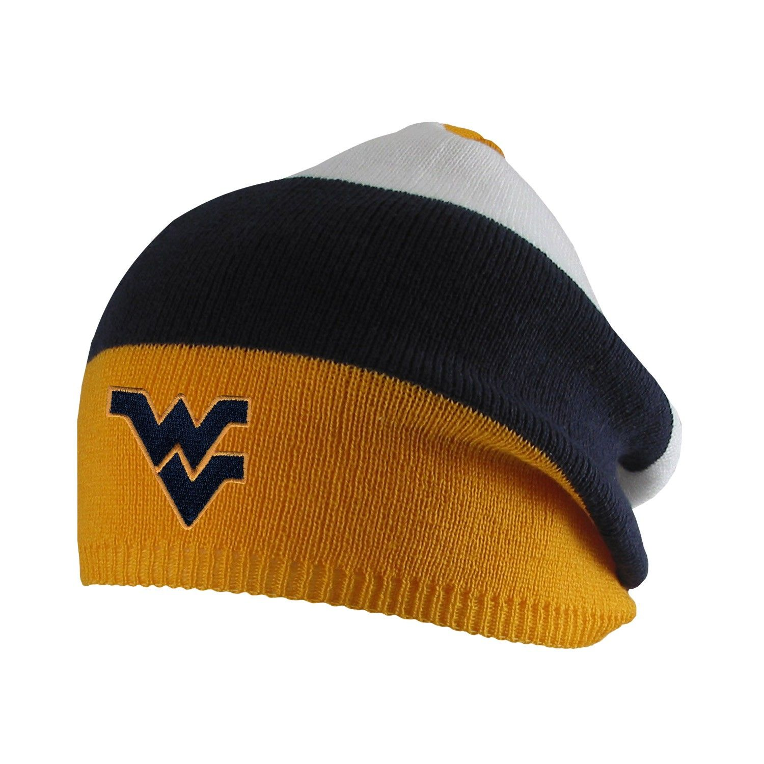 Our WVU Marley Slouchy Beanie is a colorful d4d83e282f58
