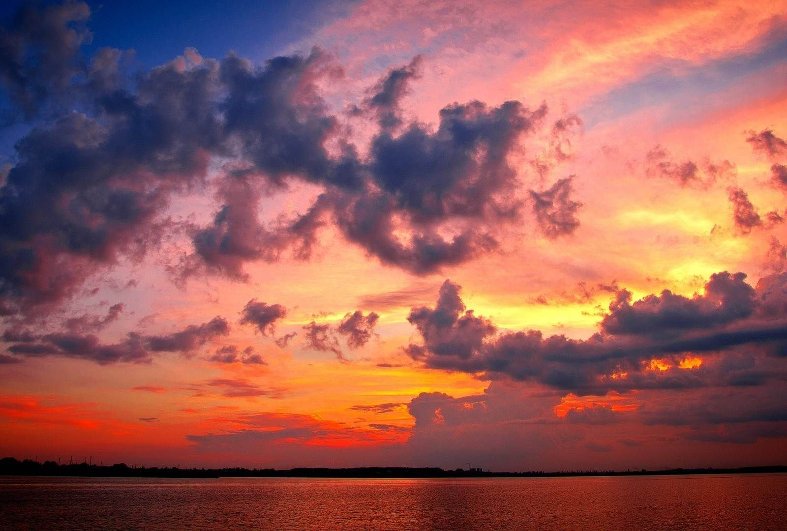 Sunsets Sunset Beautiful Mole Pier Ocean Sky Nature HD Background