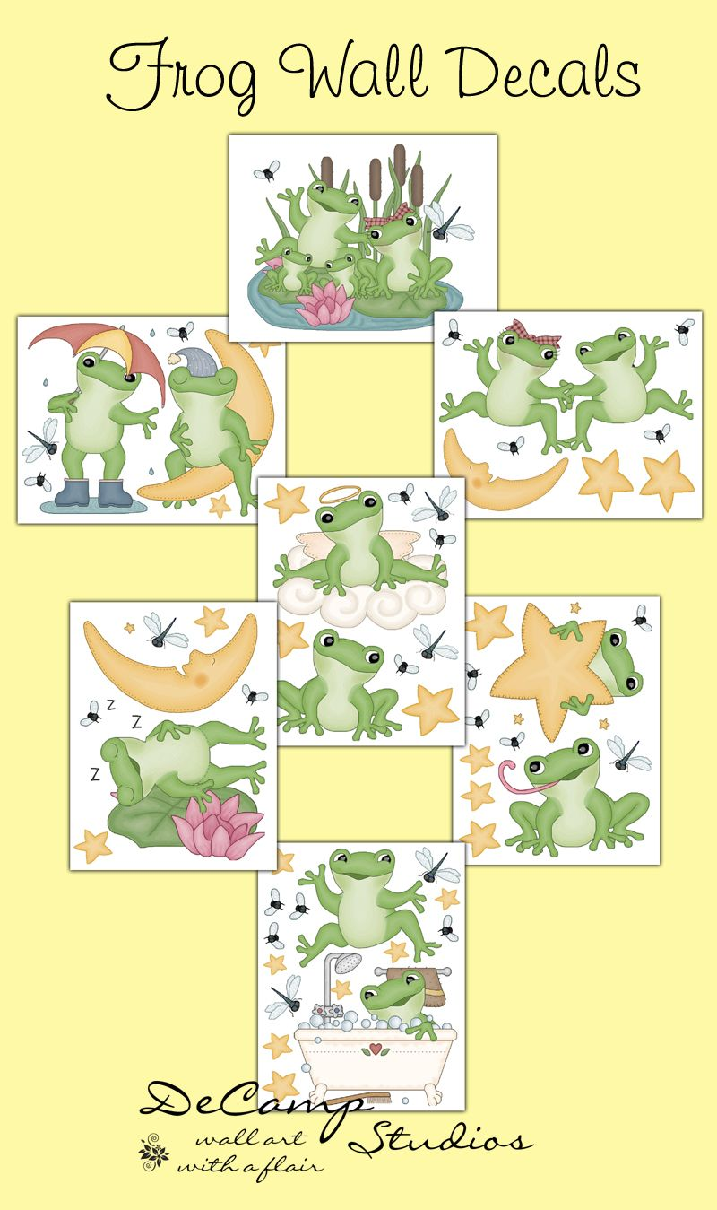 Frog Wall Decals Baby Boy Girl Nursery Stickers Decor - LARGE | I ...