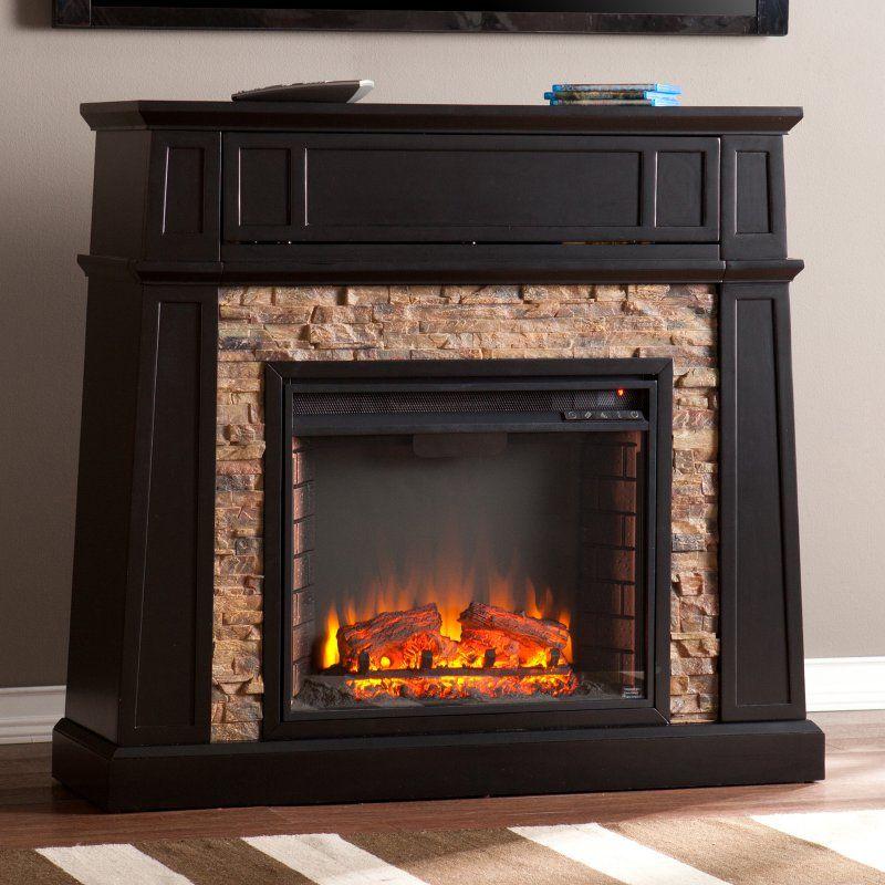 Southern Enterprises Crestwick Electric Fireplace Faux Stone