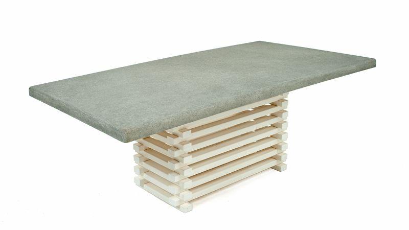 Unique Outdoor Dining Table Concrete Top Patio Furniture Cottage