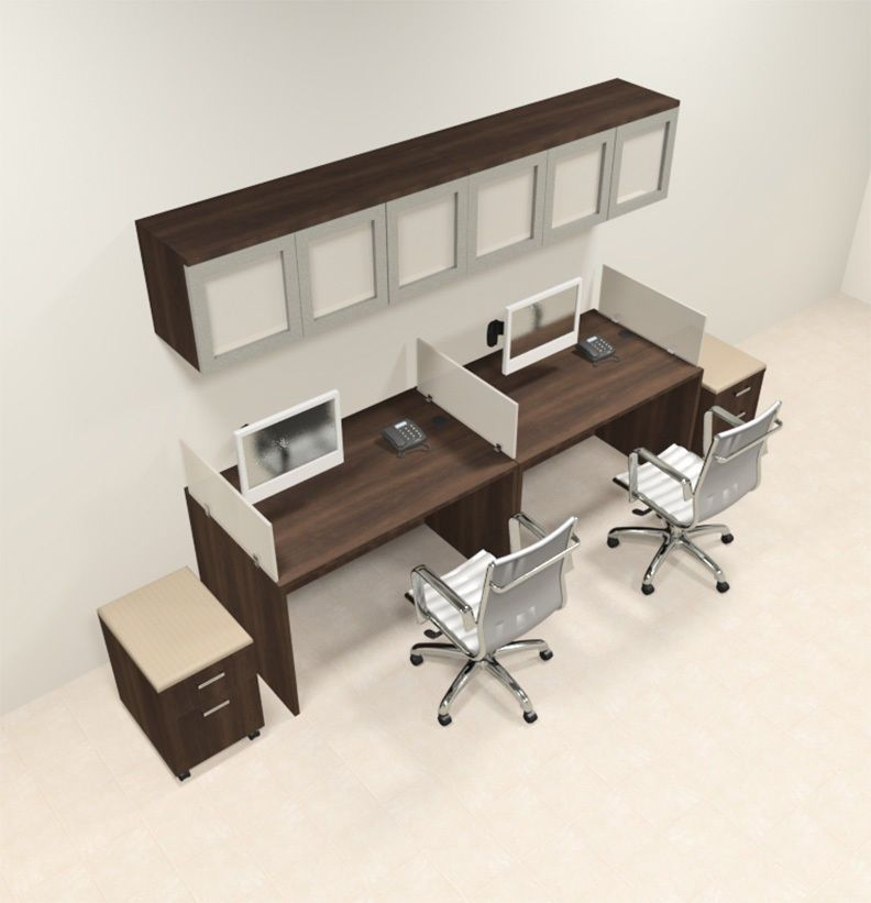 two person desk design for your wonderful home office area. Black Bedroom Furniture Sets. Home Design Ideas