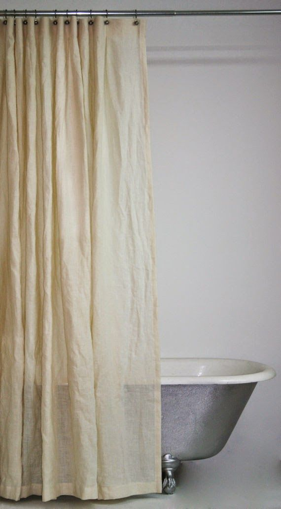 Hemp Shower Curtain Badeforhaeng Badevaerelse Linned