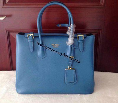 35e84015114f ... hot 2014 discount prada 2014 prada saffiano tote br5071 cornflower blue  fall winter 1a248 4ac46