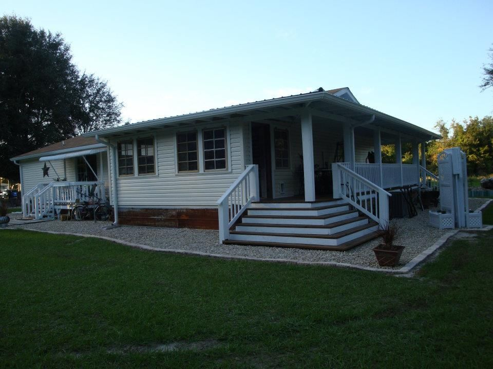 Dreamy Double Wide Manufactured Home Porch Mobile Home Porch
